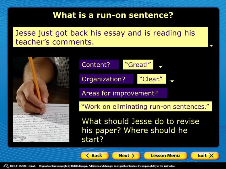 how to fix run on sentences essay
