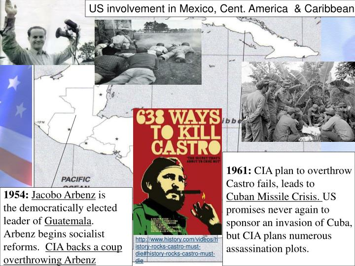 US involvement in Mexico, Cent. America  & Caribbean