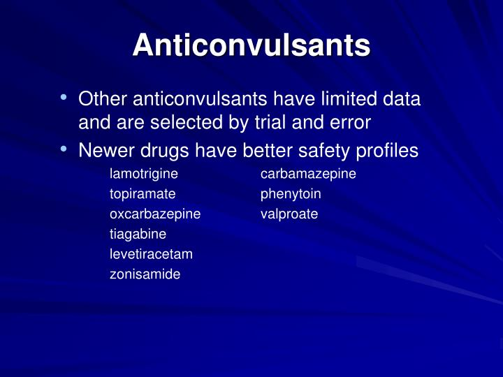 Anticonvulsants