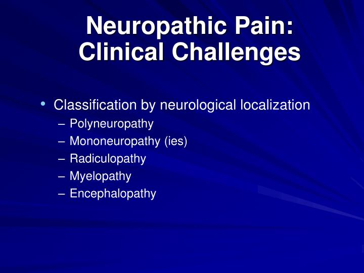 Neuropathic Pain: