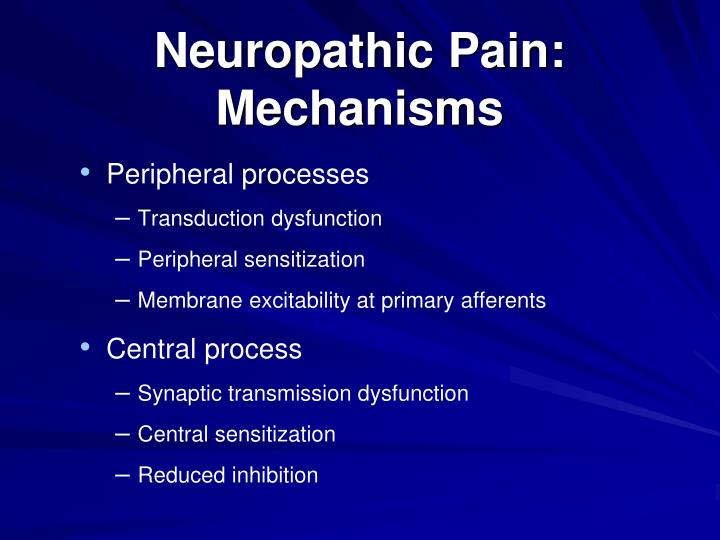 Neuropathic Pain: Mechanisms