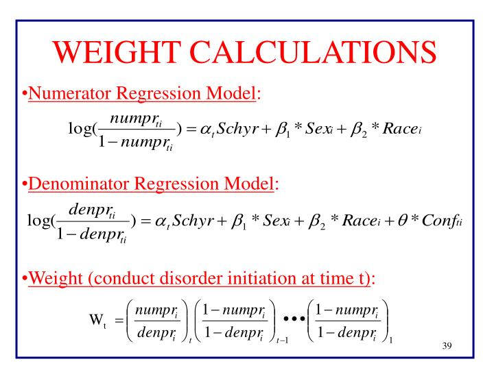 WEIGHT CALCULATIONS