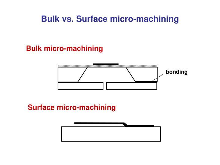 Bulk vs. Surface micro-machining