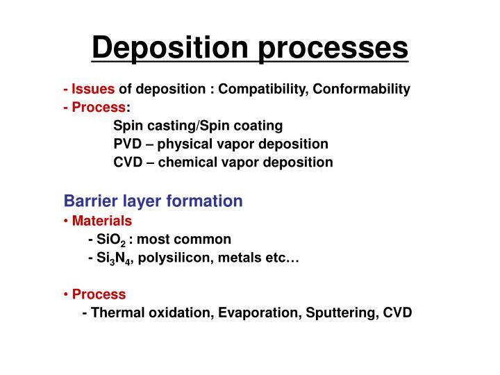 Deposition processes