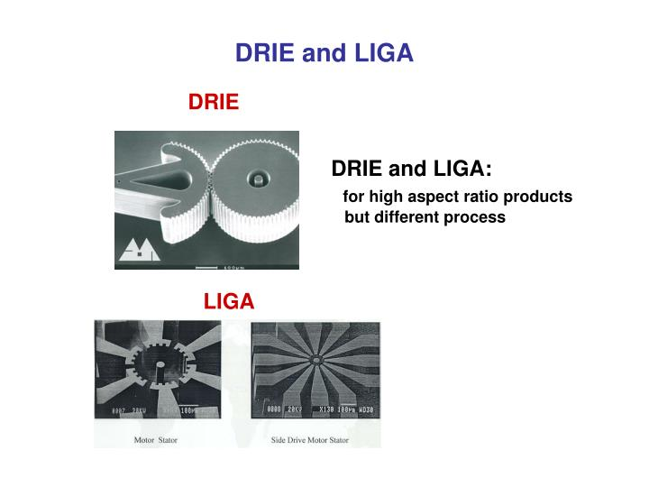 DRIE and LIGA