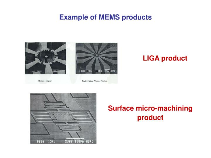 Example of mems products