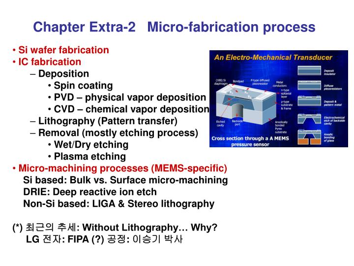 Chapter Extra-2   Micro-fabrication process