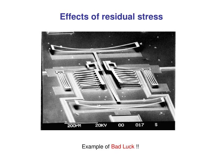 Effects of residual stress