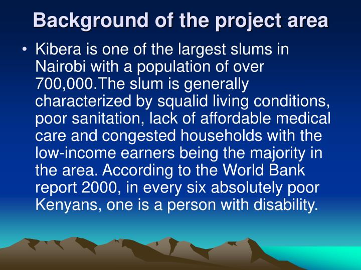 Background of the project area