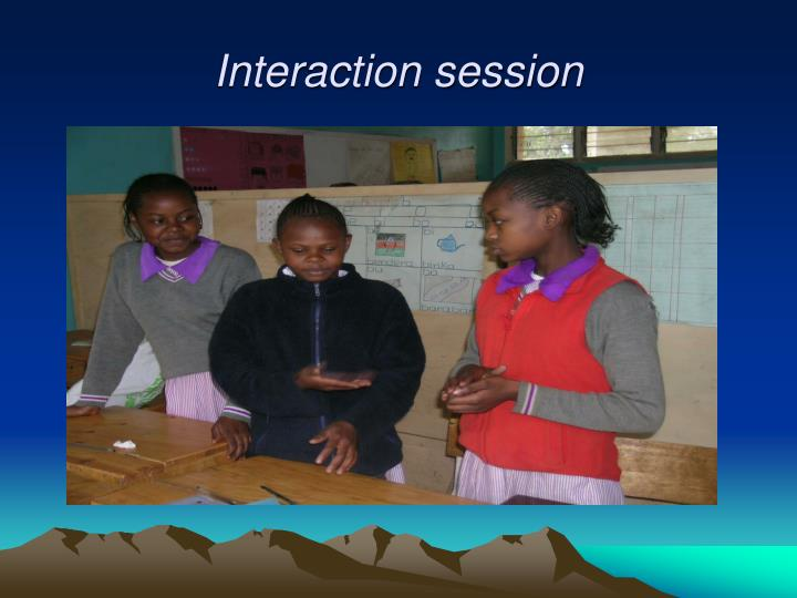 Interaction session