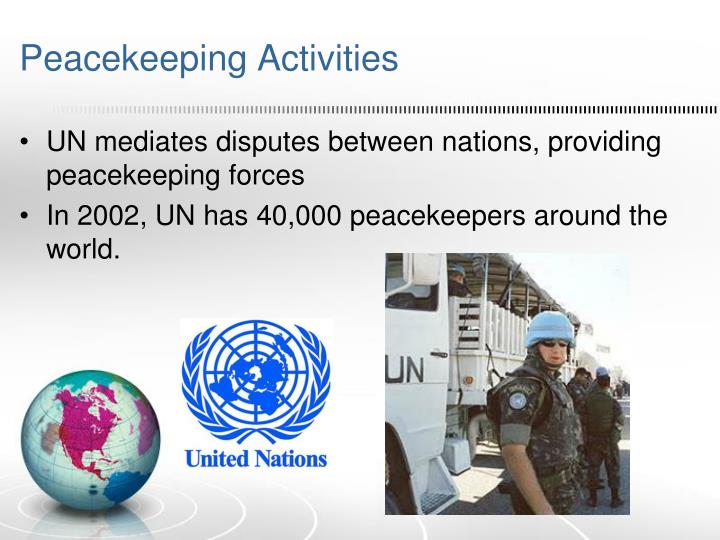 Peacekeeping Activities