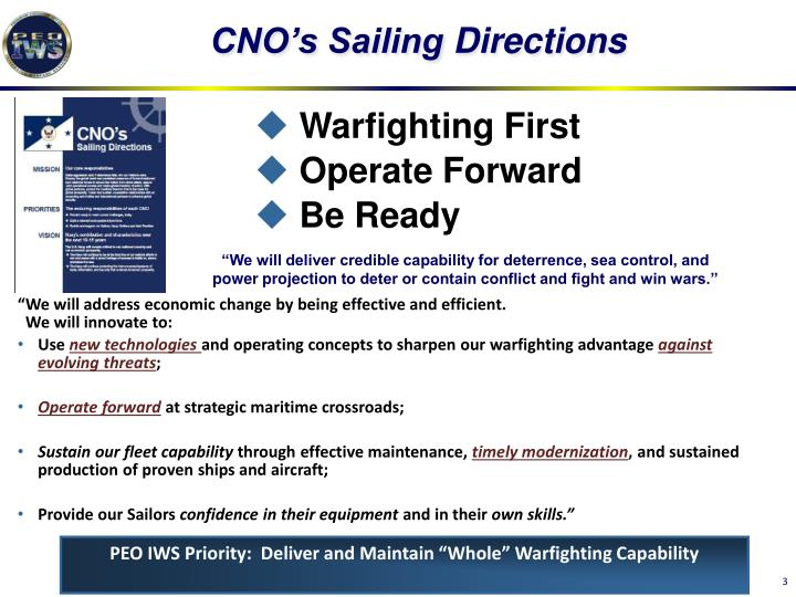 Cno s sailing directions