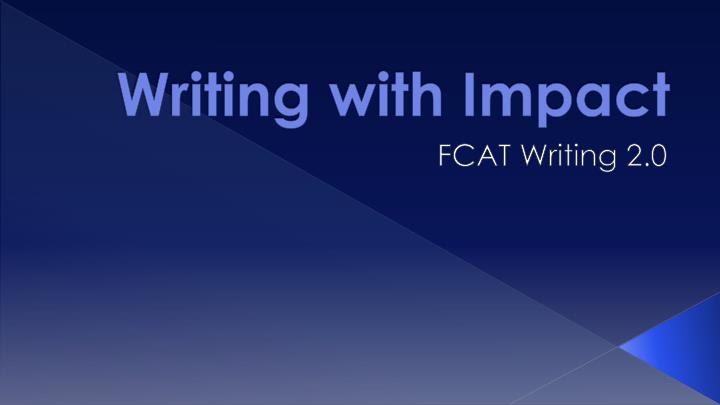 writing with impact This is an updated version of a post i published in october 2015 as a business professional you probably spend a large chunk of your working day and week writing - emails, proposals, memos and so on the time you take writing depends very much on the message you're trying to communicate in.
