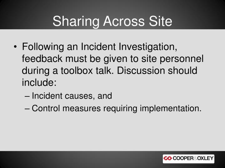 Sharing Across Site