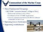 commandant of the marine corps