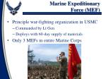 marine expeditionary force mef