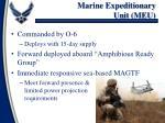 marine expeditionary unit meu