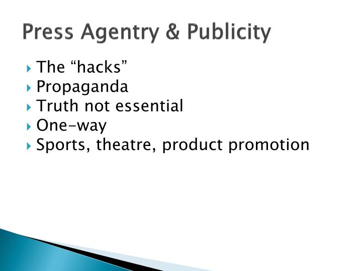 press agentry Advertising 19 final part 2 press agentry refers to the planning and staging of events to generate publicity for _____ press kit which of the.