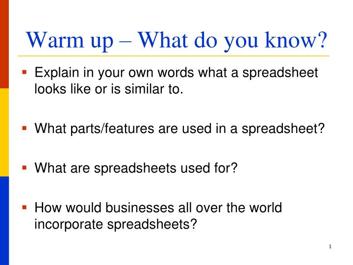 ppt warm up what do you know powerpoint presentation id 3100441