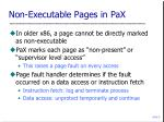 non executable pages in pax