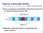 placing vulnerable buffer