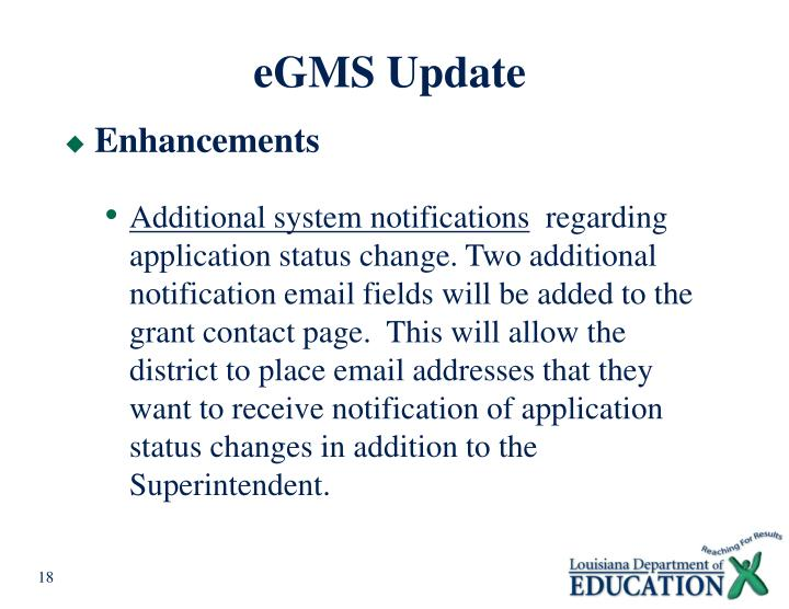eGMS Update