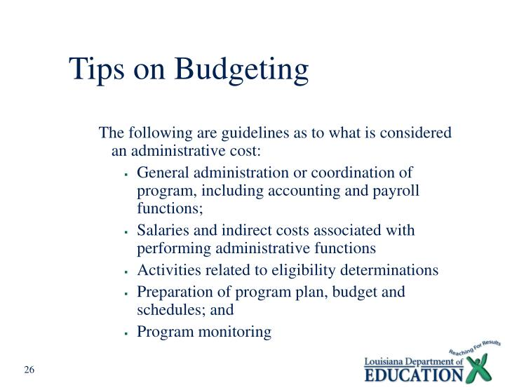 Tips on Budgeting