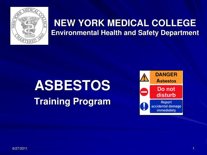 new york medical college environmental health and safety department n.