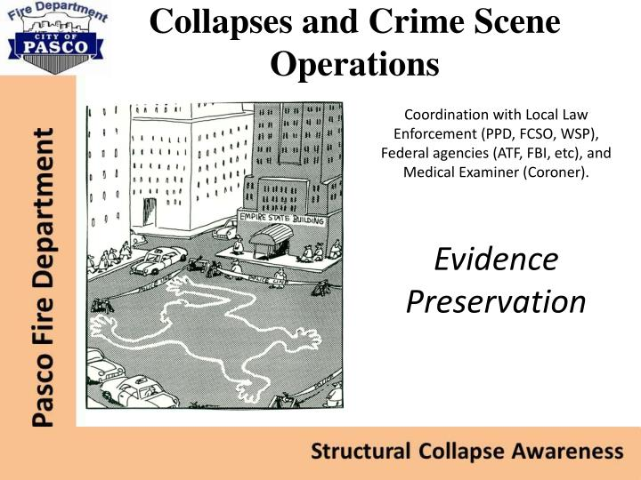 Collapses and Crime Scene Operations