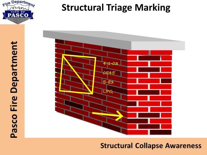 Structural Triage Marking