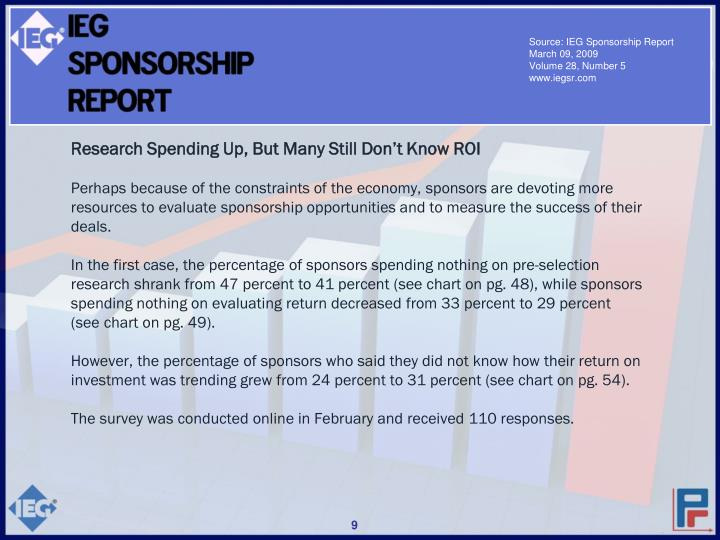 Source: IEG Sponsorship Report