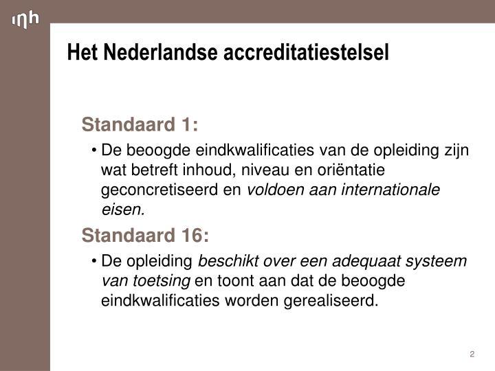 Het nederlandse accreditatiestelsel