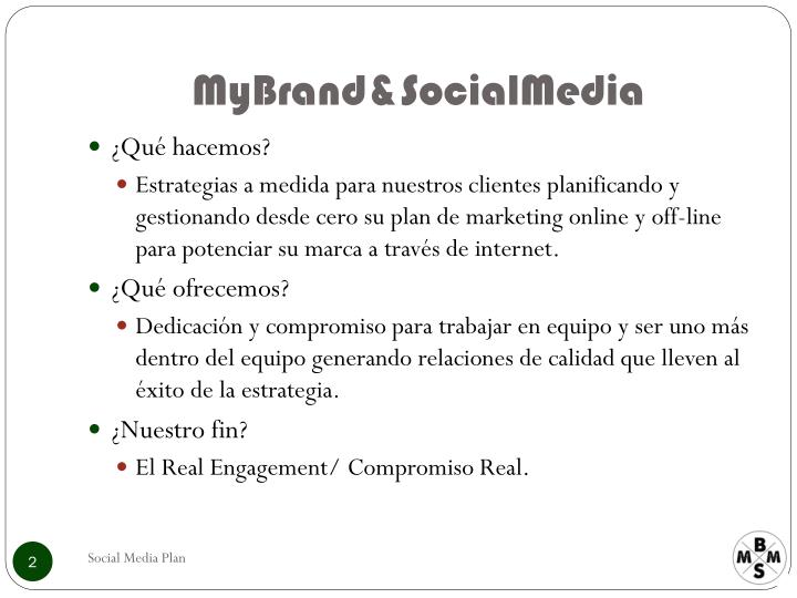 Mybrand socialmedia