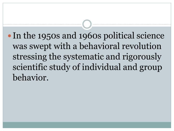 behavioral revolution in political science