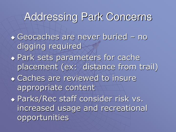 Addressing Park Concerns