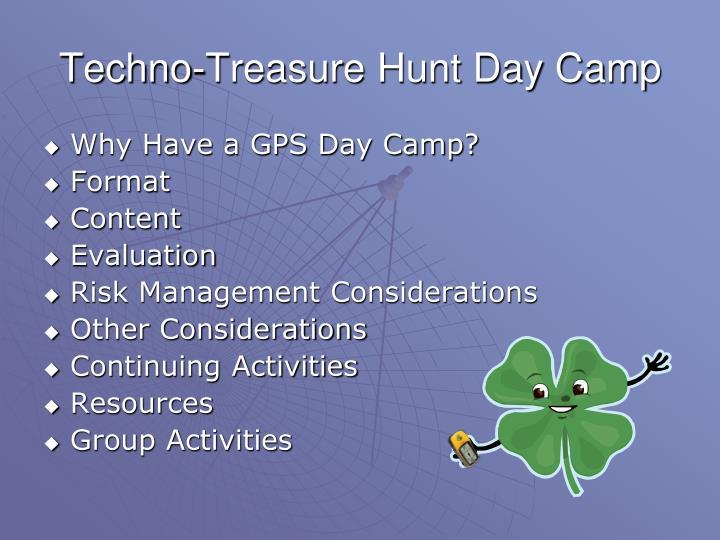 Techno-Treasure Hunt Day Camp