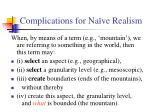 complications for na ve realism1