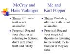 mccray and me and hans vaihinger karl popper