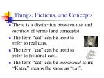 things fictions and concepts