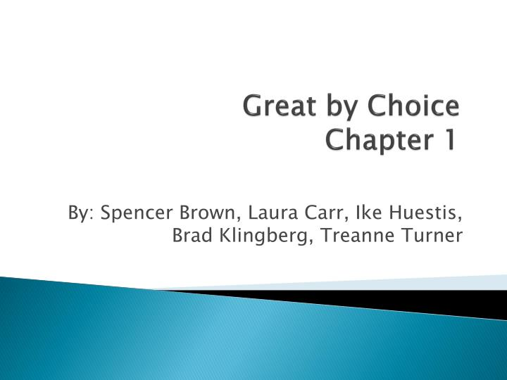 great by choice chapter 1 n.