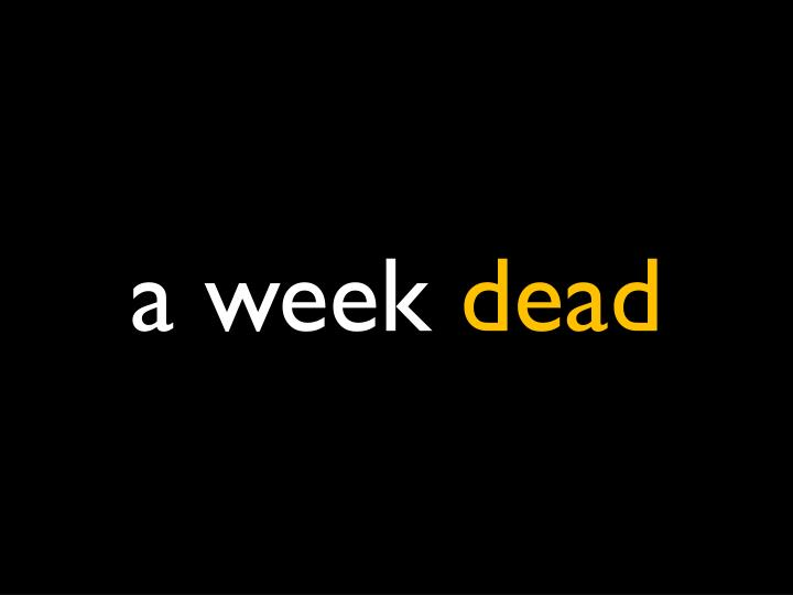 a week
