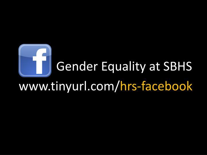 Gender Equality at SBHS