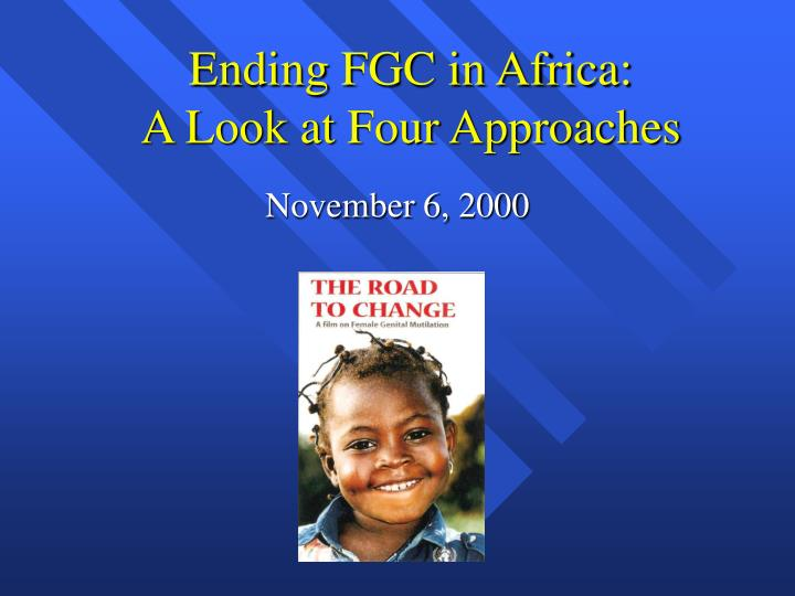 ending fgc in africa a look at four approaches n.