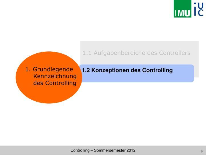 1.1 Aufgabenbereiche des Controllers