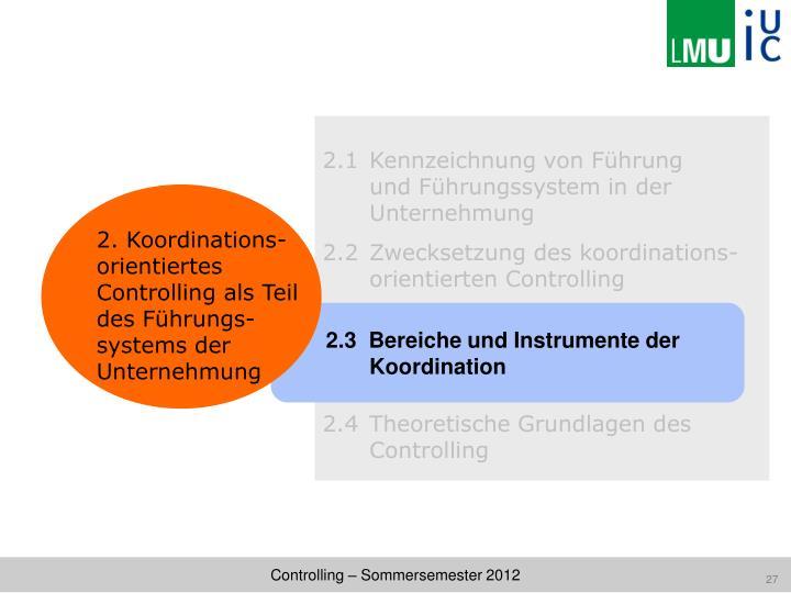 2.1 Kennzeichnung von Führung