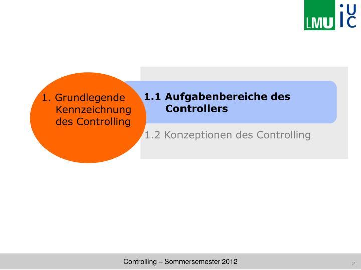 1.2 Konzeptionen des Controlling
