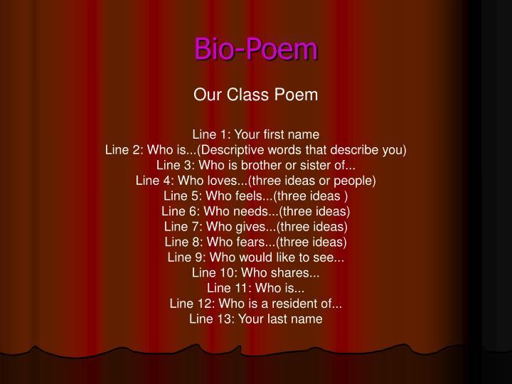 Bio-Poem