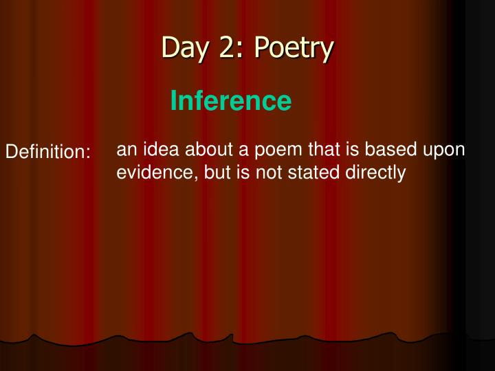 Day 2: Poetry