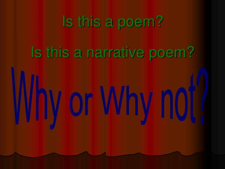 Is this a poem?
