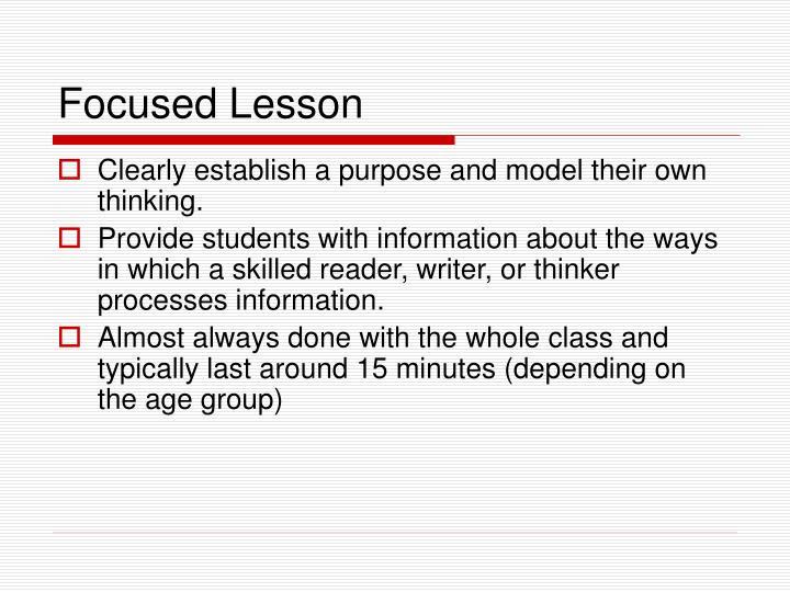 Focused Lesson